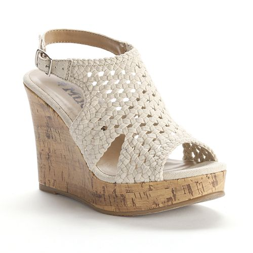 Mudd® Crochet Wedge Sandals - Women