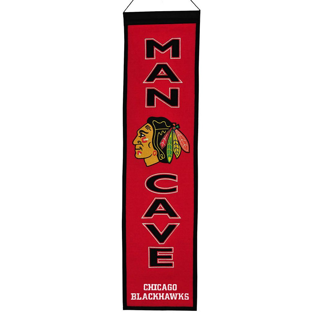 Chicago Blackhawks Man Cave Banner