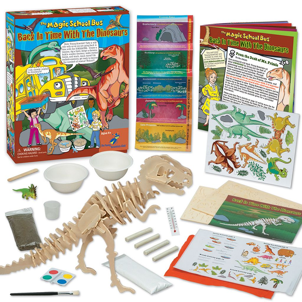 The Young Scientists Club The Magic School Bus: Back in Time With the Dinosaurs Kit