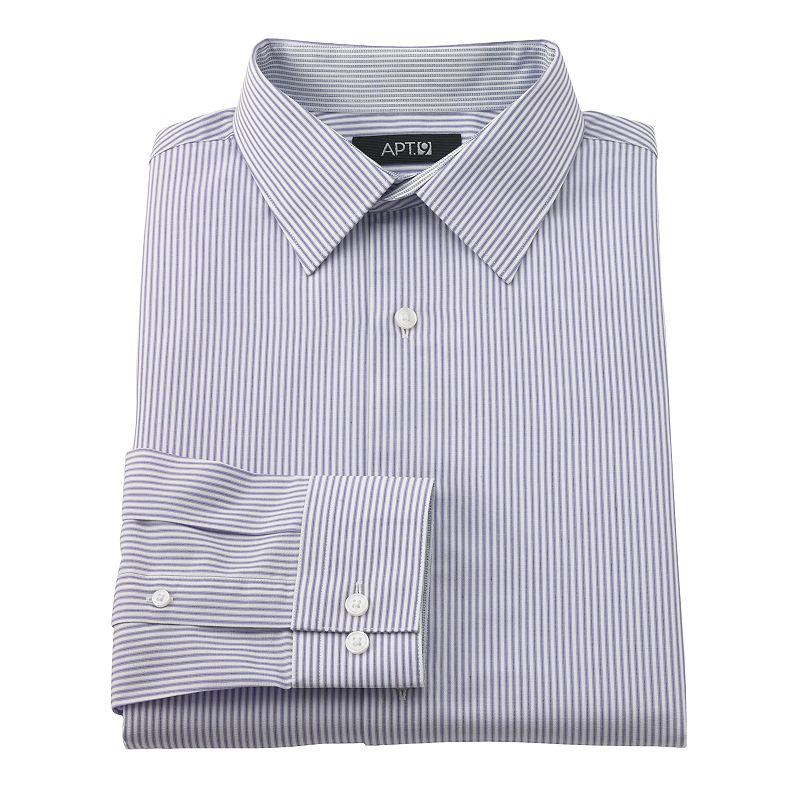 Apt 9 Slim Fit Dobby Spread Collar Dress Shirt Men