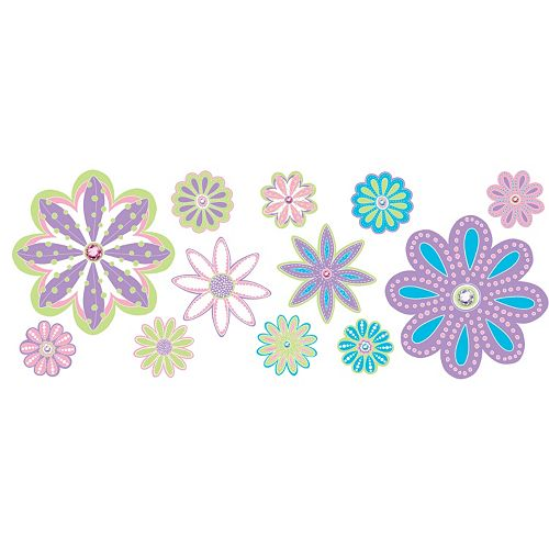 WallPops Patchwork Daisy Blox Wall Decals