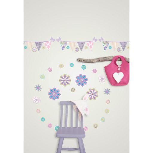 WallPops Patchwork Daisy Blox Wall Decals