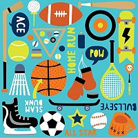 WallPops Junior Varsity Blox Wall Decals