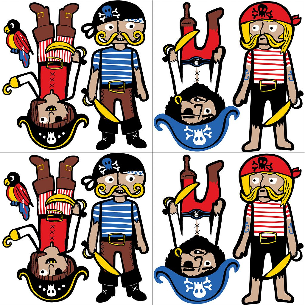 WallPops Argh Pirates Blox Wall Decals