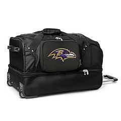 Baltimore Ravens 27 in Wheeled Drop-Bottom Duffel Bag