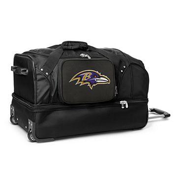 Baltimore Ravens 27-in. Wheeled Drop-Bottom Duffel Bag