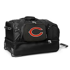Chicago Bears 27 in Wheeled Drop-Bottom Duffel Bag