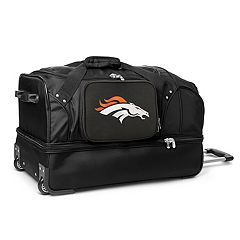 Denver Broncos 27 in Wheeled Drop-Bottom Duffel Bag