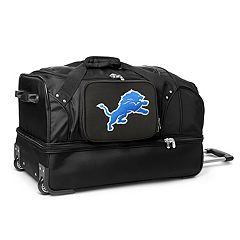 Detroit Lions 27 in Wheeled Drop-Bottom Duffel Bag