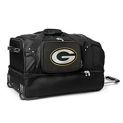 Green Bay Packers 27 in Wheeled Drop-Bottom Duffel Bag
