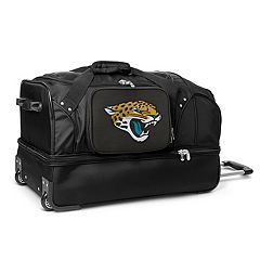 Jacksonville Jaguars 27 in Wheeled Drop-Bottom Duffel Bag