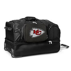 Kansas City Chiefs 27 in Wheeled Drop-Bottom Duffel Bag