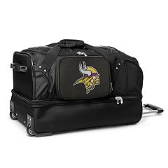 Minnesota Vikings 27 in Wheeled Drop-Bottom Duffel Bag