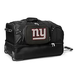 New York Giants 27 in Wheeled Drop-Bottom Duffel Bag