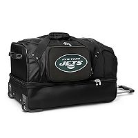 New York Jets 27-in. Wheeled Drop-Bottom Duffel Bag
