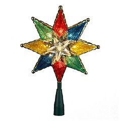 Kurt Adler Multicolored Star Christmas Tree Topper - Indoor