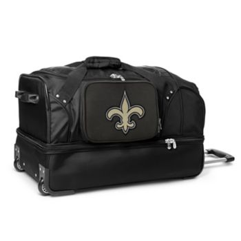 New Orleans Saints 27-in. Wheeled Drop-Bottom Duffel Bag
