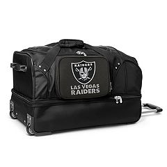Oakland Raiders 27 in Wheeled Drop-Bottom Duffel Bag