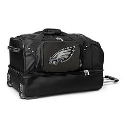 Philadelphia Eagles 27 in Wheeled Drop-Bottom Duffel Bag