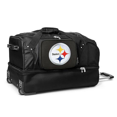 Pittsburgh Steelers 27-in. Wheeled Drop-Bottom Duffel Bag