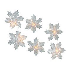 Kurt Adler 10-Light Snowflake Party Christmas Light Set - Indoor & Outdoor