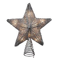 Kurt Adler Glitter Star Christmas Tree Topper - Indoor & Outdoor