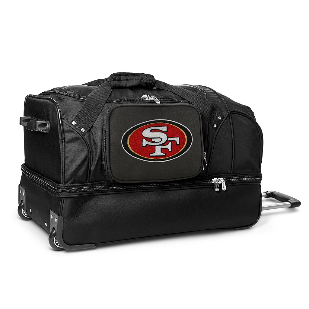 San Francisco 49ers 27-in. Wheeled Drop-Bottom Duffel Bag