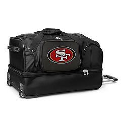 San Francisco 49ers 27 in Wheeled Drop-Bottom Duffel Bag