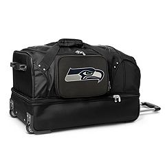 Seattle Seahawks 27 in Wheeled Drop-Bottom Duffel Bag