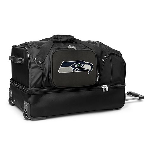 Seattle Seahawks 27-in. Wheeled Drop-Bottom Duffel Bag