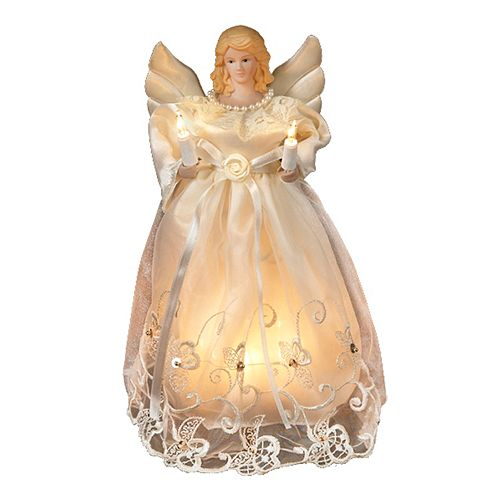 Christmas Tree Angel Tree Topper: Kurt S. Adler 10-in. Lighted Angel Christmas Tree Topper