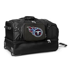 Tennessee Titans 27 in Wheeled Drop-Bottom Duffel Bag