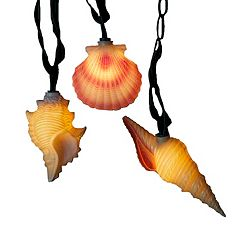 Kurt S. Adler Seashell Christmas Light Set - Indoor & Outdoor