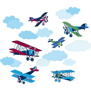 WallPops Mighty Vintage Planes Wall Decals