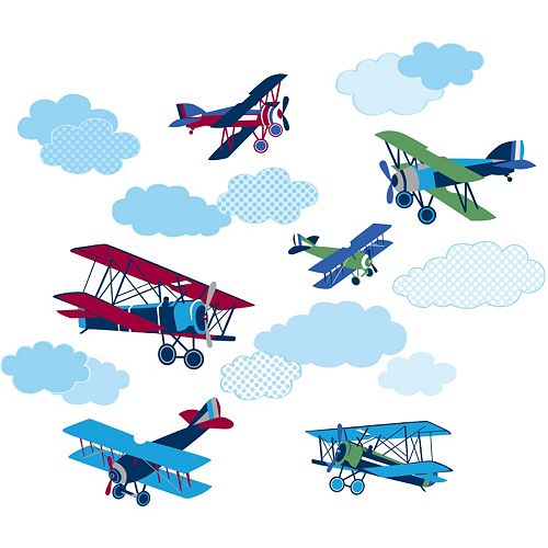 WallPops Mighty Vintage Planes Wall Decals