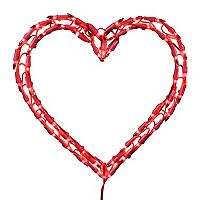 Kurt Adler LED Heart Window Christmas Light - Indoor & Outdoor