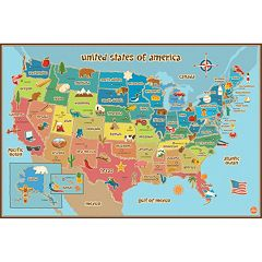 WallPops USA Kids Map Wall Decal