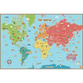WallPops World Kids Map Wall Decal
