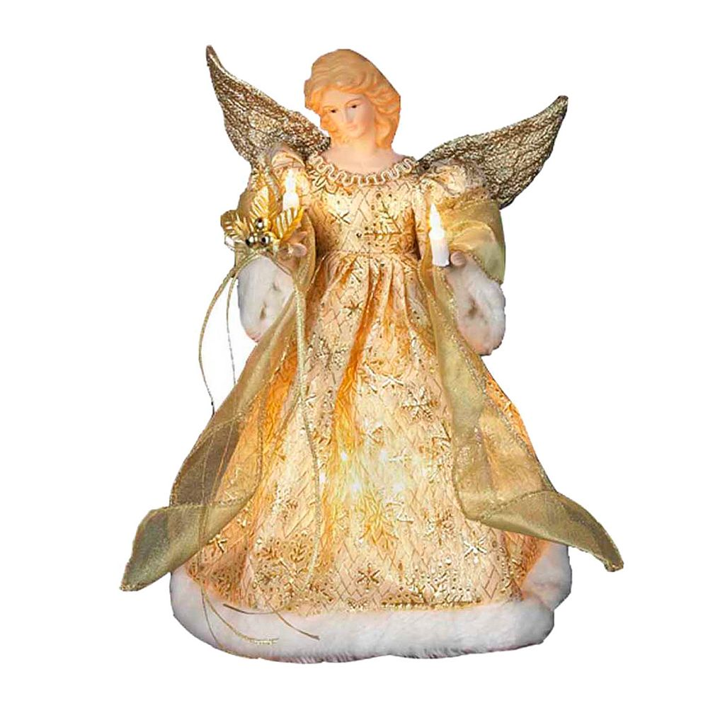 Adler 12 In LED Angel Christmas Tree Topper - Christmas Tree Angel Toppers