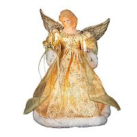 Kurt Adler 12-in. LED Angel Christmas Tree Topper