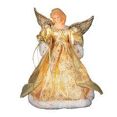 Kurt Adler 12-in. LED Angel Christmas Tree Topper