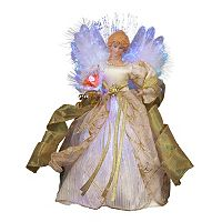 Kurt Adler 12-in. LED & Fiber Optic Gold Angel Christmas Tree Topper