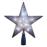 Kurt Adler 10-in. LED Glitter Star Christmas Tree Topper