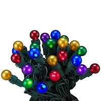 Kurt Adler LED Multi-Colored Pearlized Christmas Light Set - Indoor & Outdoor