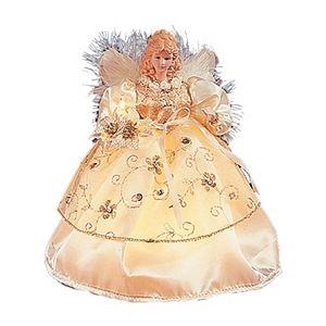 Kurt Adler 9-in. Pre-Lit Ivory & Gold Angel Christmas Tree Topper