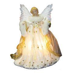 Kurt Adler 14-in. LED & Fiber Optic Animated Angel Christmas Tree Topper