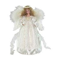 Kurt Adler 12-in. LED Ivory Angel Christmas Tree Topper