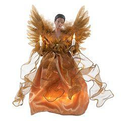 Kurt Adler 13-in. LED Gold Angel Christmas Tree Topper