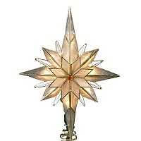 Kurt Adler LED Capiz Shell Bethlehem Star Christmas Tree Topper