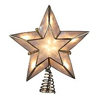 Kurt Adler 8 1/2-in. LED Capiz Shell Star Christmas Tree Topper